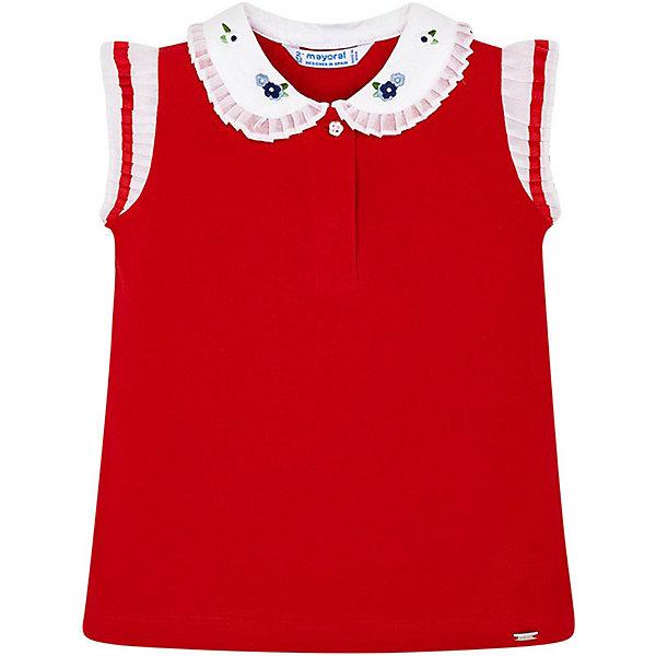 Купить Футболка-поло Mayoral для девочки, Индия, красный, 122, 128, 98, 110, 134, 104, 116, 92, Женский