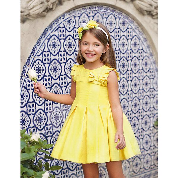 Купить Нарядное платье Abel&Lula, Испания, желтый, 128, 110, 122, 104, 116, Женский
