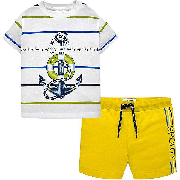 Купить Комплект Mayoral: футболка и шорты, Индия, желтый, 80, 92, 98, 74, 86, Мужской