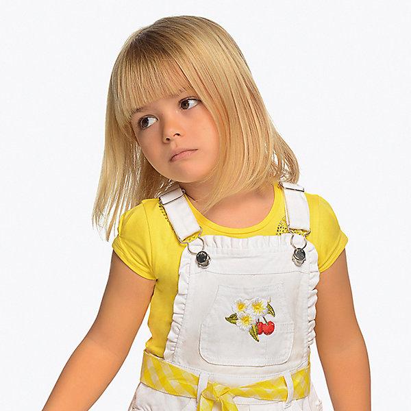 Купить Футболка Mayoral для девочки, Индия, желтый, 128, 98, 92, 110, 116, 122, 134, 104, Женский