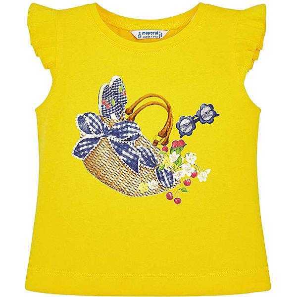 Купить Майка Mayoral для девочки, Индия, желтый, 110, 128, 98, 122, 134, 92, 104, 116, Женский