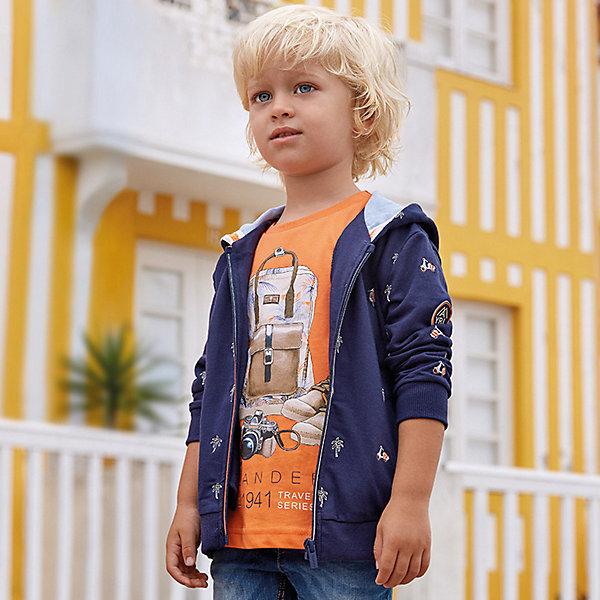 Купить Толстовка Mayoral для мальчика, Индия, синий, 104, 116, 122, 98, 128, 134, 92, 110, Мужской