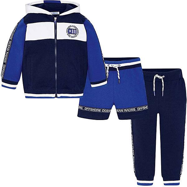 Купить Спортивный костюм Mayoral для мальчика, Китай, синий, 116, 92, 98, 110, 128, 122, 134, 104, Мужской