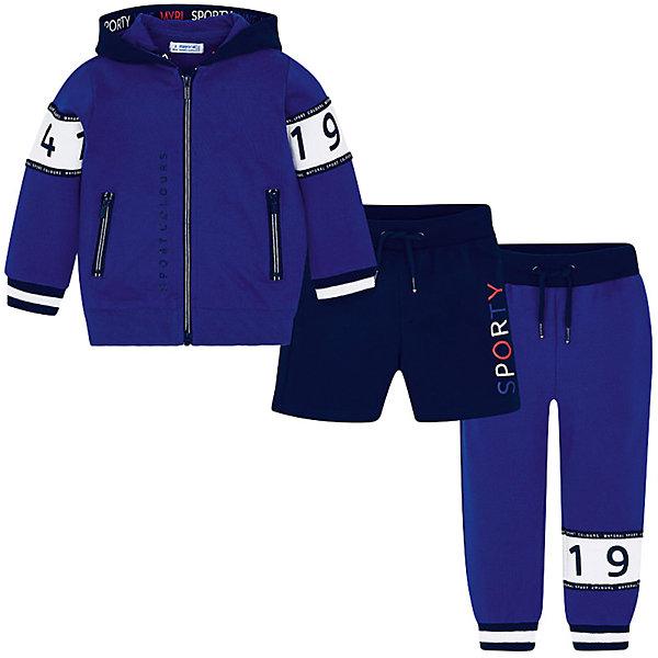 Купить Спортивный костюм Mayoral для мальчика, Китай, синий, 128, 92, 122, 116, 134, 104, 98, 110, Мужской