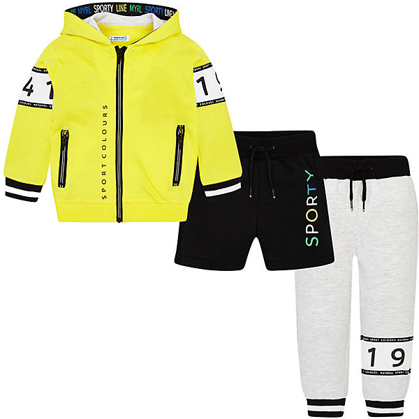 Купить Спортивный костюм Mayoral для мальчика, Китай, желтый, 116, 110, 104, 98, 122, 128, 134, 92, Мужской