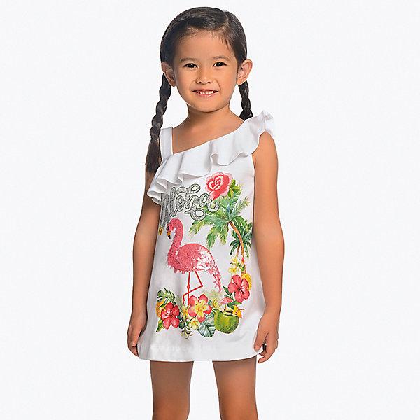 Купить Платье Mayoral для девочки, Турция, розовый, 92, 134, 110, 116, 98, 122, 128, 104, Женский