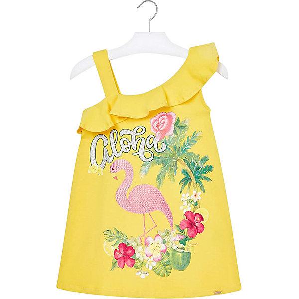 Купить Платье Mayoral для девочки, Турция, желтый, 116, 104, 128, 122, 98, 92, 134, 110, Женский