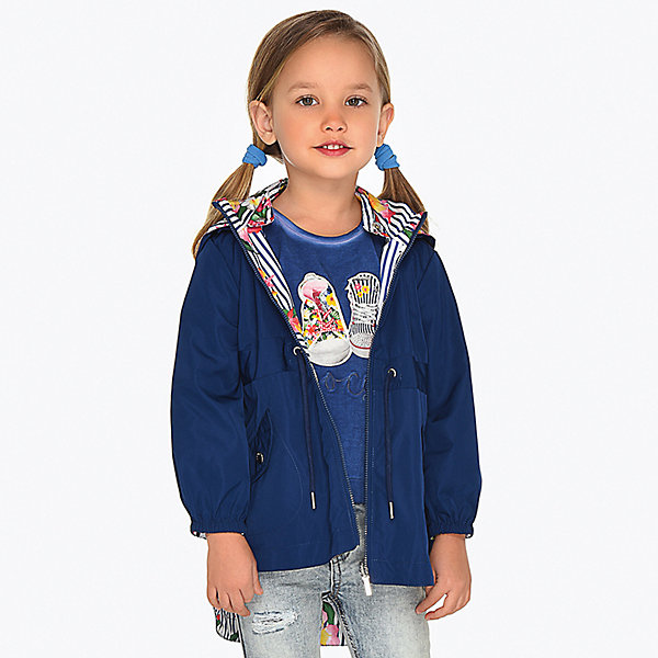 Купить Куртка двусторонняя Mayoral для девочки, Китай, синий, 92, 128, 104, 98, 116, 110, 134, 122, Женский