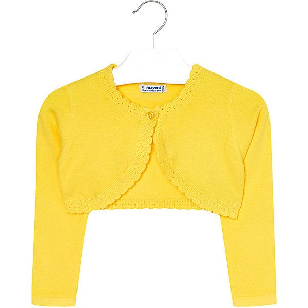 Купить Жакет Mayoral для девочки, Камбоджа, желтый, 110, 134, 98, 92, 122, 104, 128, 116, Женский