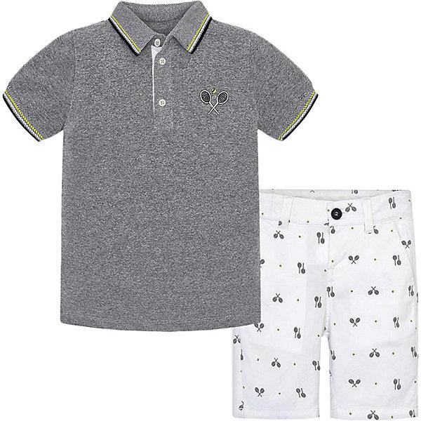 Комплект: Футболка и шорты Mayoral для мальчика, Белый