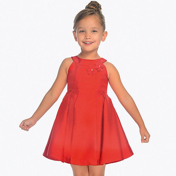 Купить Нарядное платье Mayoral, Китай, красный, 104, 134, 98, 122, 128, 116, 110, Женский