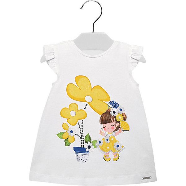 Купить Платье Mayoral для девочки, Индия, желтый/белый, 98, 86, 80, 92, 74, Женский