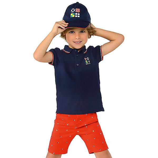 Купить Комплект: Футболка и шорты Mayoral для мальчика, Индия, красный, 116, 98, 134, 122, 128, 110, 104, 92, Мужской