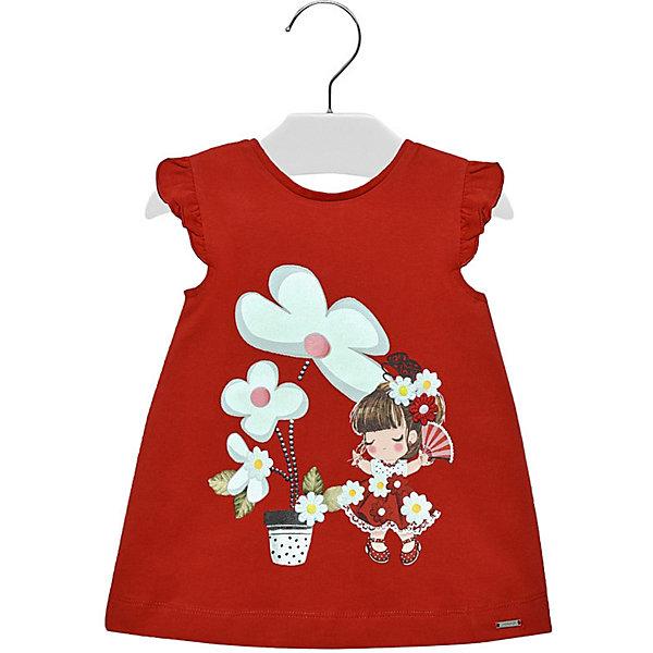 Купить Платье Mayoral для девочки, Индия, красный, 74, 86, 92, 80, 98, Женский