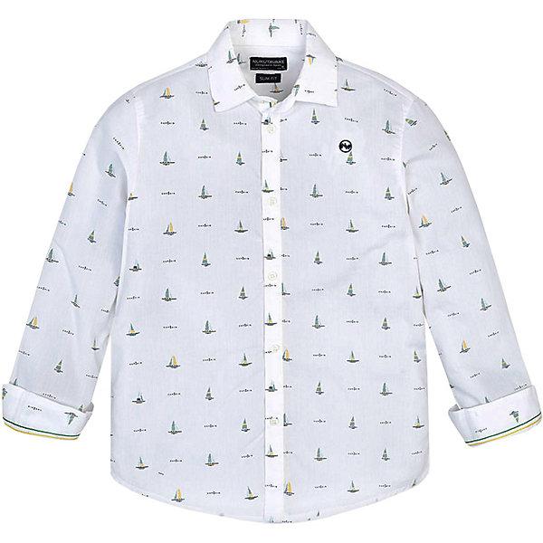 Купить Рубашка Mayoral для мальчика, Индия, белый, 161/166, 146/152, 134/140, 153/160, 128, 167/172, Мужской