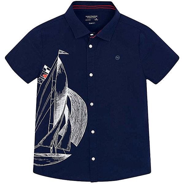 Купить Рубашка Mayoral для мальчика, Индия, темно-синий, 134/140, 153/160, 167/172, 128, 161/166, 146/152, Мужской