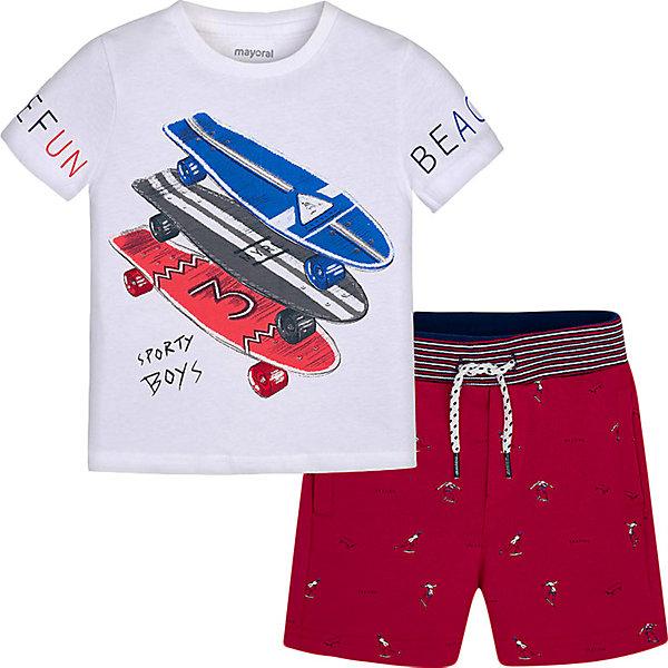 Купить со скидкой Комплект Mayoral: футболка и шорты