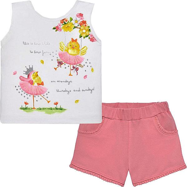 Купить Комплект: майка и шорты Mayoral для девочки, Индия, розовый, 98, 86, 80, 92, Женский