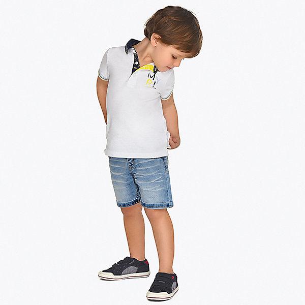 Купить Шорты Mayoral для мальчика, Бангладеш, белый, 92, 104, 122, 128, 110, 98, 116, 134, Мужской