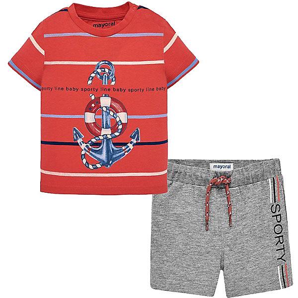 Купить Комплект Mayoral: футболка и шорты, Индия, серый, 92, 74, 98, 86, 80, Мужской