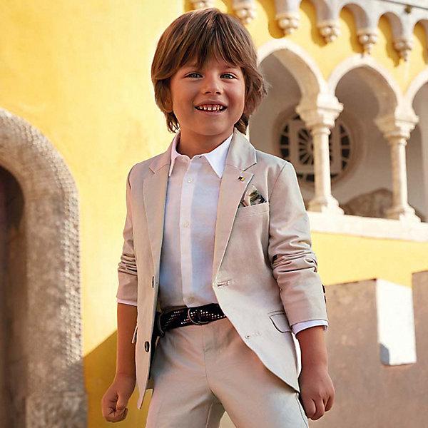 Купить Пиджак Mayoral для мальчика, Китай, бежевый, 134, 122, 116, 110, 128, 104, Мужской