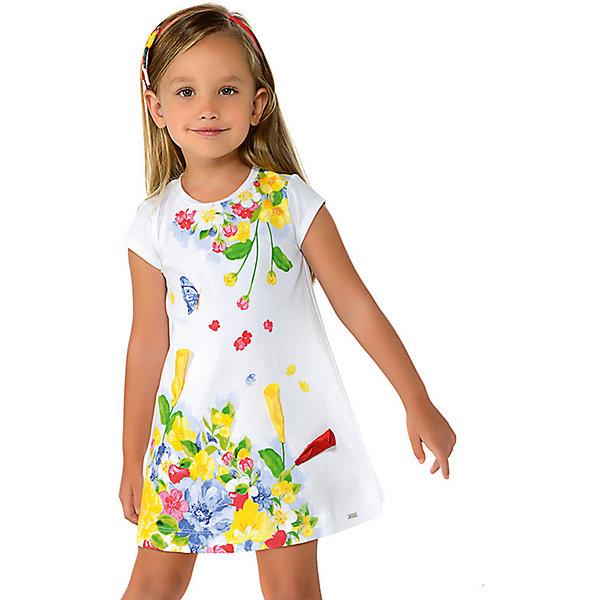 Купить Платье Mayoral для девочки, Турция, желтый, 122, 104, 98, 92, 134, 110, 116, 128, Женский