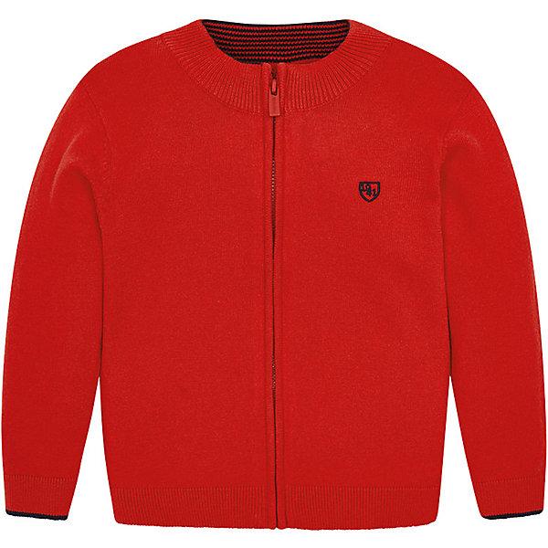 Купить Кардиган Mayoral для мальчика, Бангладеш, красный, 122, 116, 104, 128, 98, 110, 134, 92, Мужской