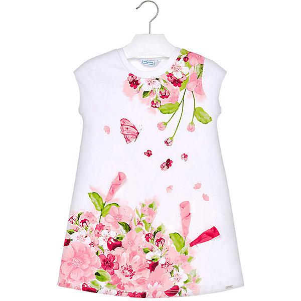 Купить Платье Mayoral для девочки, Турция, розовый, 98, 122, 134, 104, 110, 116, 92, 128, Женский