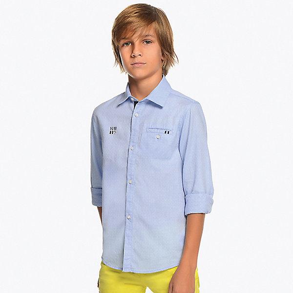 Рубашка Mayoral для мальчика, Голубой
