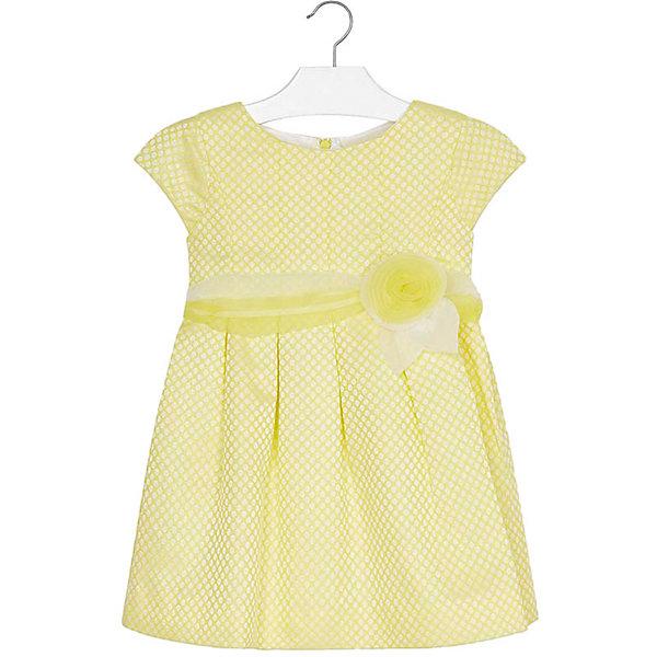 Купить Платье Mayoral для девочки, Китай, желтый, 104, 134, 122, 110, 128, 92, 116, 98, Женский