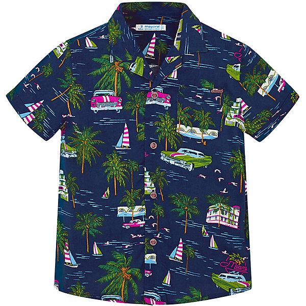 Купить Рубашка Mayoral для мальчика, Индия, синий, 134, 128, 122, 104, 98, 116, 110, 92, Мужской