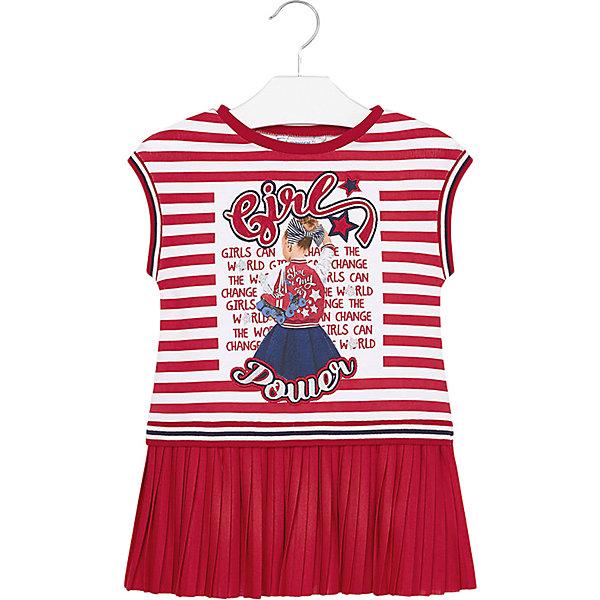 Купить Платье Mayoral для девочки, Турция, красный, 92, 128, 116, 122, 98, 134, 104, 110, Женский