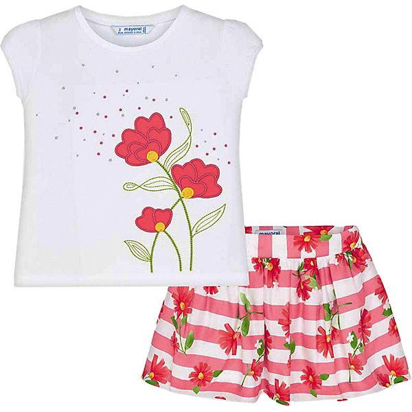 Купить Комплект Mayoral: футболка и юбка, Португалия, розовый, 92, 122, 134, 110, 98, 128, 116, 104, Женский