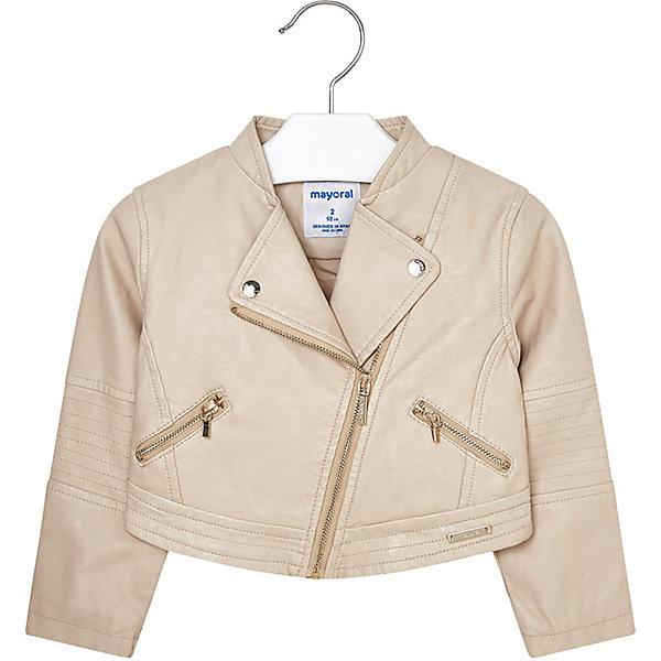 Купить Куртка Mayoral для девочки, Китай, бежевый, 92, 134, 116, 122, 98, 128, 110, 104, Женский