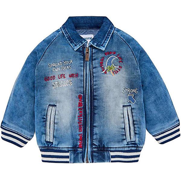 Купить Джинсовая куртка Mayoral, Бангладеш, синий, 80, 86, 98, 92, Мужской