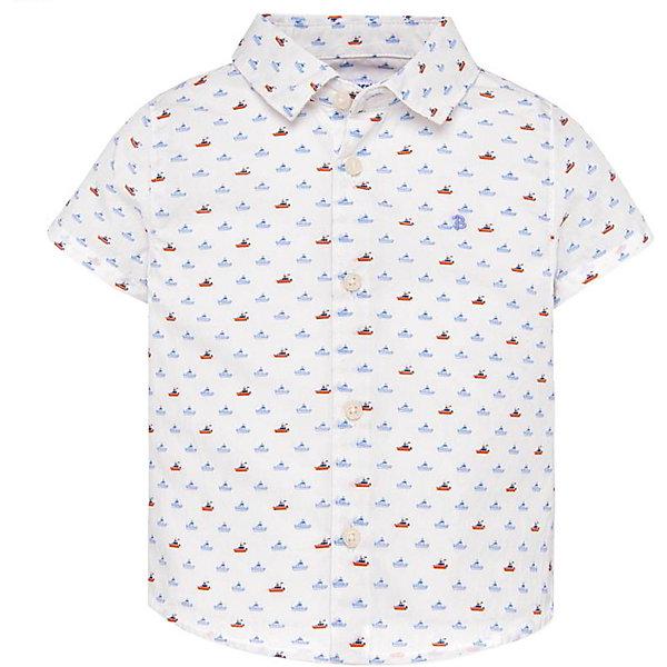 Купить Рубашка Mayoral, Индия, оранжевый/белый, 80, 86, 98, 92, Мужской