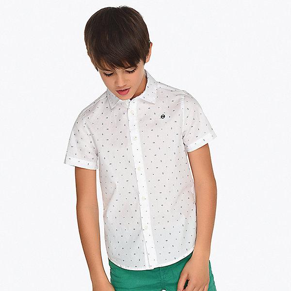 Купить Рубашка Mayoral для мальчика, Индия, белый, 153/160, 167/172, 128, 134/140, 146/152, 161/166, Мужской