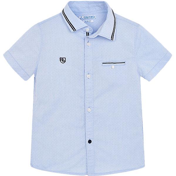 Купить Рубашка Mayoral для мальчика, Индия, голубой, 116, 134, 128, 92, 110, 104, 98, 122, Мужской