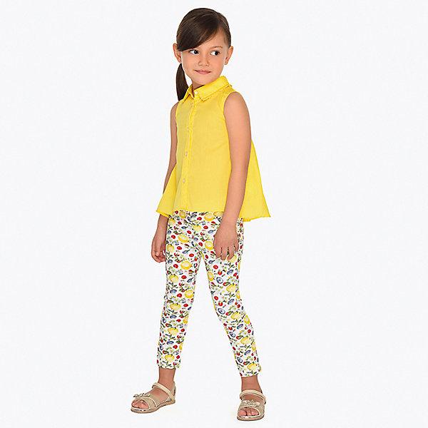 Купить Брюки Mayoral для девочки, Китай, желтый, 134, 110, 122, 92, 116, 104, 128, 98, Женский