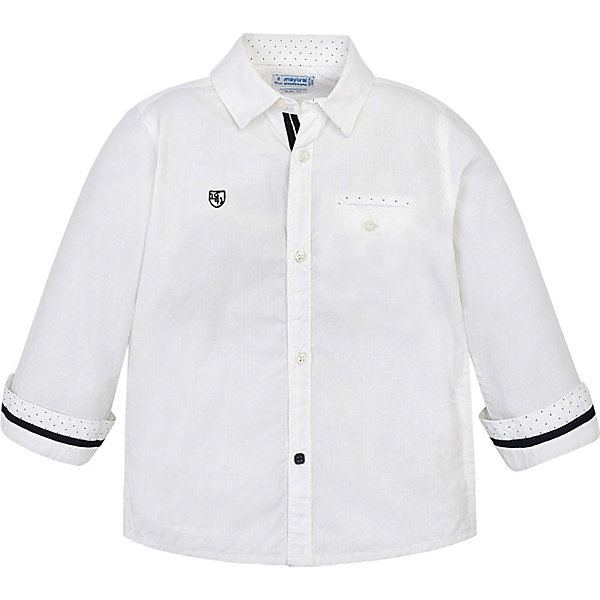 Купить Рубашка Mayoral для мальчика, Индия, белый, 110, 116, 134, 128, 122, 104, 92, 98, Мужской
