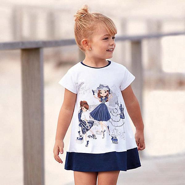 Купить Платье Mayoral для девочки, Турция, темно-синий, 104, 122, 98, 92, 134, 128, 116, 110, Женский