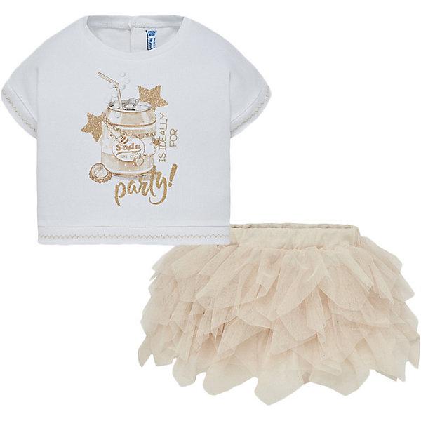 Mayoral Комплект Mayoral: футболка и юбка юбки апрель юбка иностранка