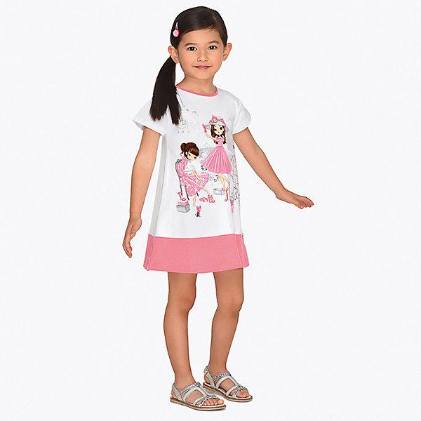 Купить Платье Mayoral для девочки, Турция, розовый, 134, 98, 110, 104, 122, 128, 116, 92, Женский