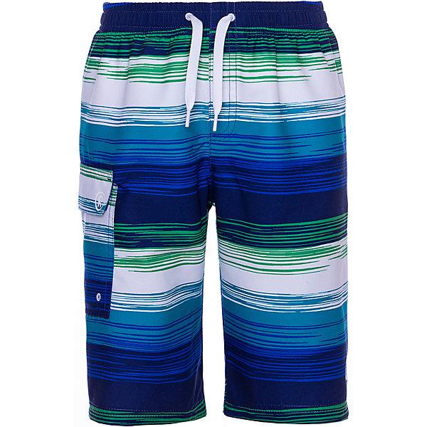 Шорты Reima HonopuШорты, бриджи, капри<br>Характеристики товара:<br><br>• состав ткани: 100% полиэстер <br>• сезон: лето<br>• застёжка: завязки<br>• Reima SunProof<br>• фактор защиты от ультрафиолета 50+<br>• страна бренда: Финляндия<br><br>Пляжные шорты длиной до колена имеют свободный крой и не сковывают движений. Материал прост в уходе и быстро сохнет. Эластичный пояс легко регулируется и фиксируется на талии, обеспечивая комфортную посадку. Сбоку кармашек.