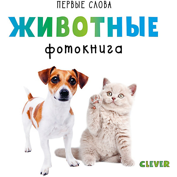 Купить Первые слова. Животные. Фотокнига, Clever, Китай, Унисекс