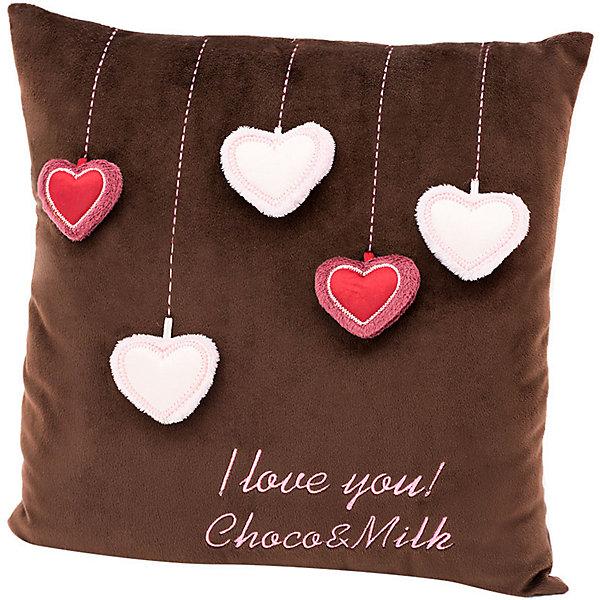 Orange Мягкая игрушка Choco&Milk Подушка Мишка Choco: Сердечки