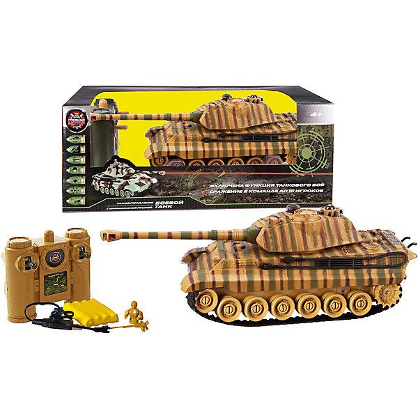 Купить Радиоуправляемый танк Пламенный мотор Tiger , Китай, зеленый, Мужской