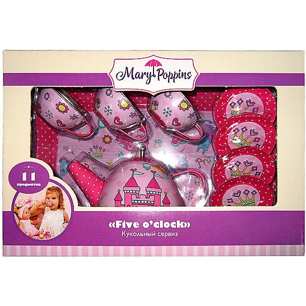 Купить Набор посуды Mary Poppins Five o'clock сервиз Принцесса , 11 предметов, Китай, розовый, Женский
