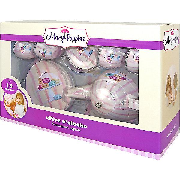Купить Набор посуды Mary Poppins Five o'clock сервиз Макарон , 15 предметов, Китай, розовый, Женский