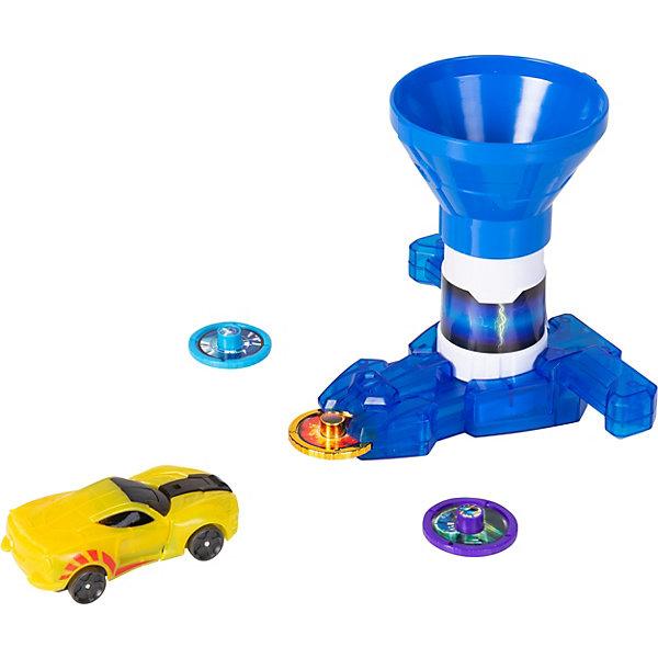Screechers Wild Игровой набор Дикие Скричеры Бластер для дисков синий, машинка